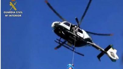 Rescatado en helicóptero un excursionista accidentado en Alcúdia