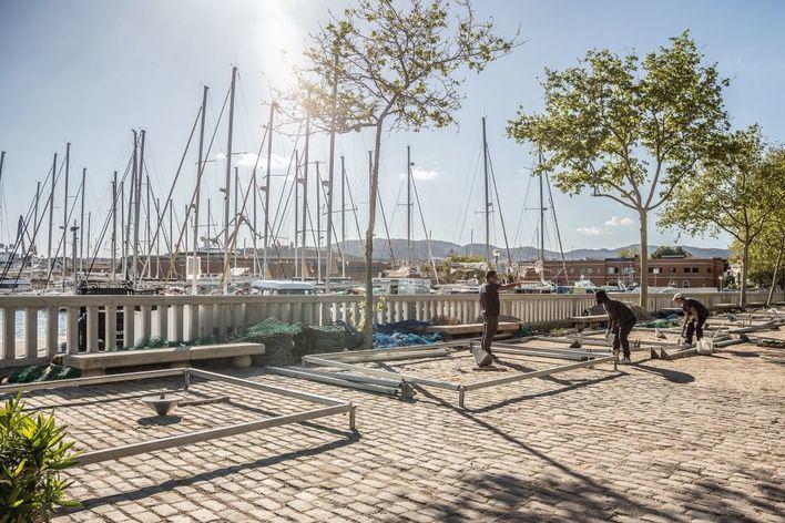 Más de 150 personas montan el Palma International Boat Show