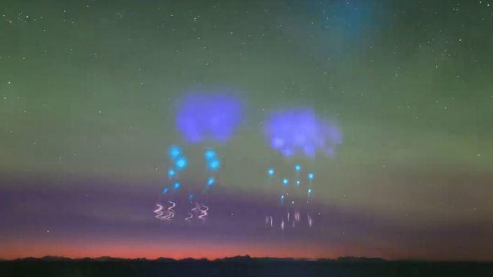 La NASA crea nubes de colores para rastrear auroras boreales