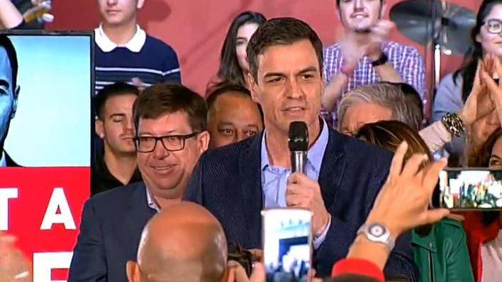 Sánchez: ¡Vamos a hacer que pase la victoria socialista!