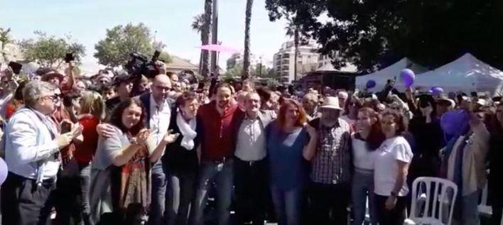 Pablo Iglesias pide en Palma el voto para Podemos