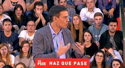 Sánchez pide castigar en las urnas a PP y Ciudadanos
