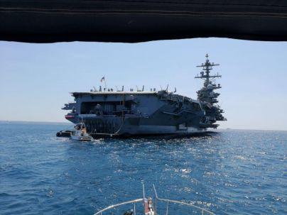 En las entrañas del mayor buque de guerra del mundo