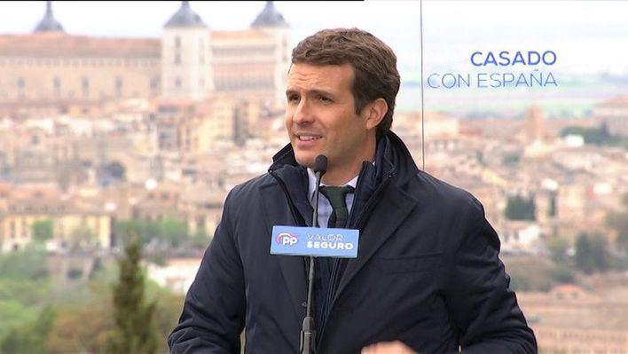 Casado pide concentrar el voto en su partido para echar a Sánchez