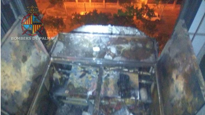 Incendio en un hotel de Son Armadans