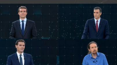 ¿Cuántos espectadores vieron el primer debate entre PSOE, PP, Cs y Podemos?