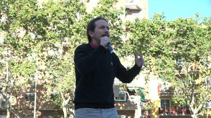 Iglesias pide el voto a los que optaron por PSC, CUP y ERC