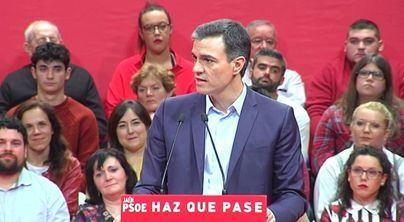Sánchez pide el voto y 'no dar por hecho las cosas'