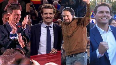 Los candidatos cierran la campaña electoral