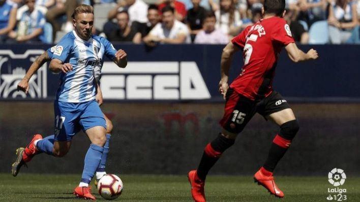 El Mallorca rubrica una victoria ante el Málaga a dos minutos del final