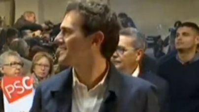 Albert Rivera vota en un colegio de Hospitalet de Llobregat