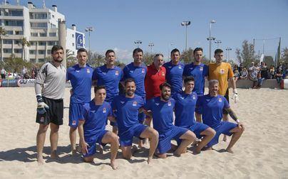 La selección de Baleares cae ante la de España sub21 de fútbol playa