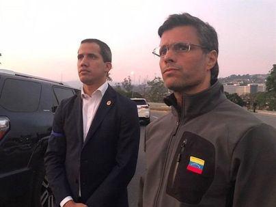 El opositor Leopoldo López, liberado de su arresto por militares antichavistas