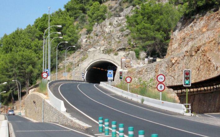 Cierran el túnel con el Port de Sóller por las noches entre el lunes y el miércoles