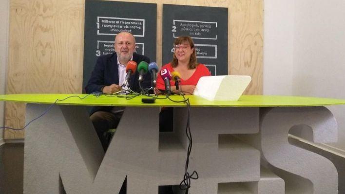 Més quiere un 'pacto de izquierdas' para lograr un nuevo sistema de financiación