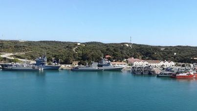 Los buques del ejercicio multinacional antiminas llegan a Porto Pi