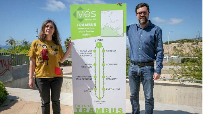 Més per Palma promete un trambús que conecte Palma con el aeropuerto cada siete minutos