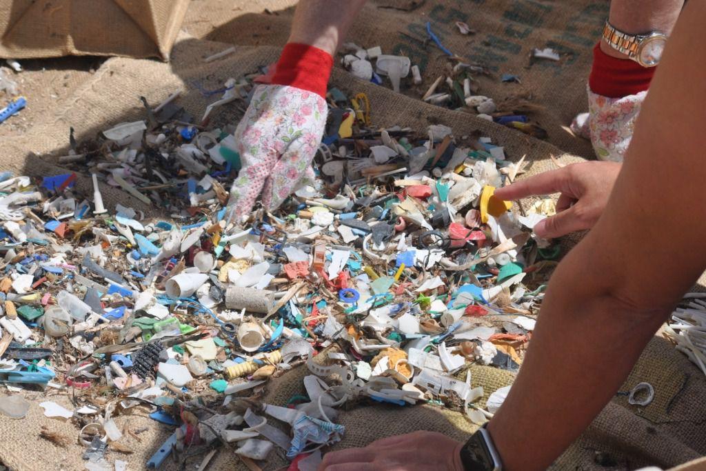 Voluntarios retiran más de 1.300 colillas y cuatro kilos de basura en Cala Domingos