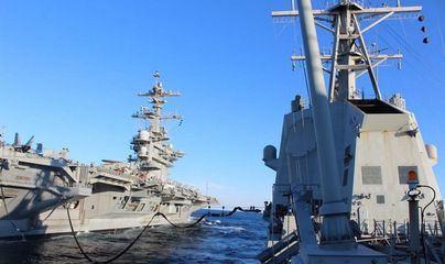 La Méndez Núñez se retira de su misión con el portaaviones Lincoln en el Golfo