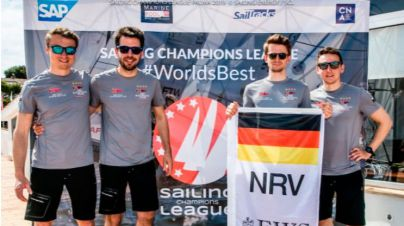 El equipo alemán gana la primera regata de la Sailing Champions League en Nàutic s'Arenal