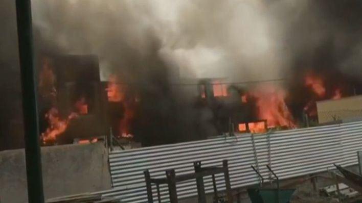 Servicios Sociales atiende a 39 inquilinos del edificio incendiado en Ibiza