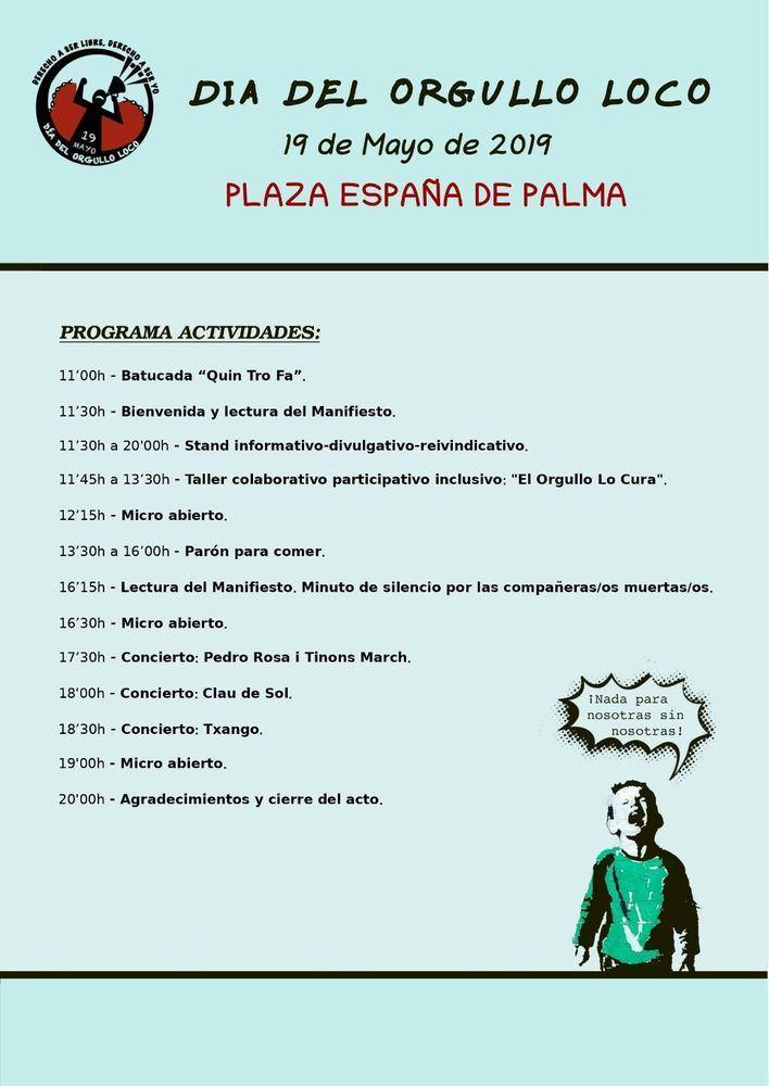 Organizan en Palma el 'Día del Orgullo Loco', una jornada para visibilizar la salud mental