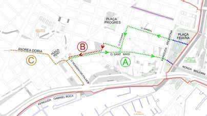 Santa Catalina se conecta con la red ciclista tras su reconversión como zona 30