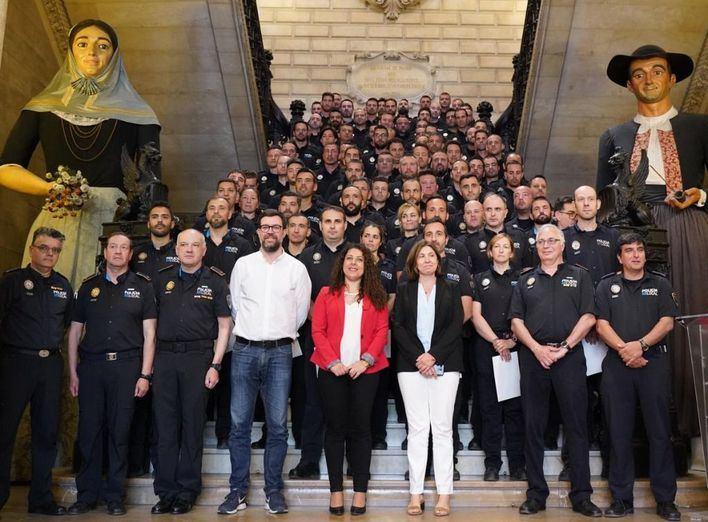 96 policía interinos de Palma se convertirán en funcionarios de carrera