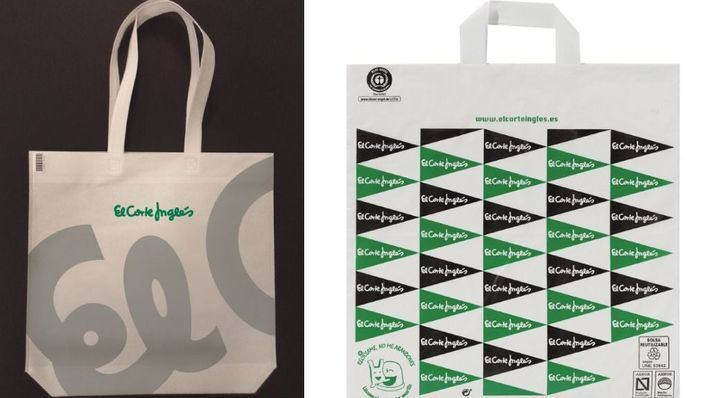 El Corte Inglés certifica todas sus bolsas de plástico como sostenibles y reutilizables