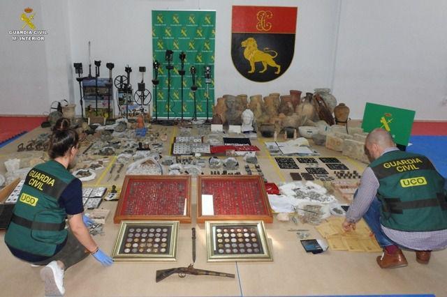 Diez detenidos por expolio, falsificación y venta de bienes arqueológicos