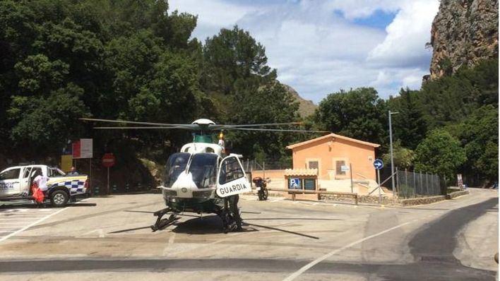 Un bebé en estado grave tras caer desde 7 metros en Sa Calobra