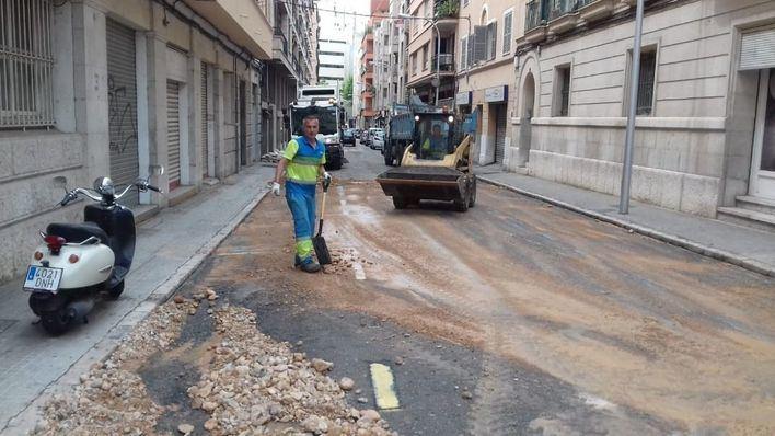Vuelven a sus casas los residentes del edificio de Es Fortí desalojado por la ruptura de una tubería