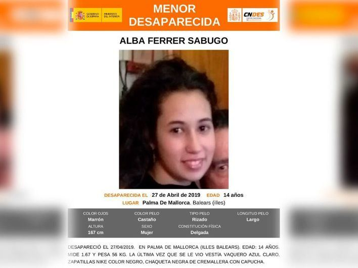 Encuentran a la joven desaparecida en Palma en buen estado de salud