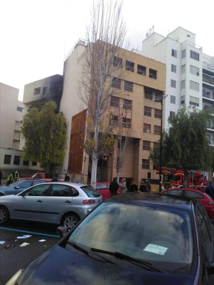 Prisión sin fianza para los dos detenidos por el incendio de los juzgados en Ibiza