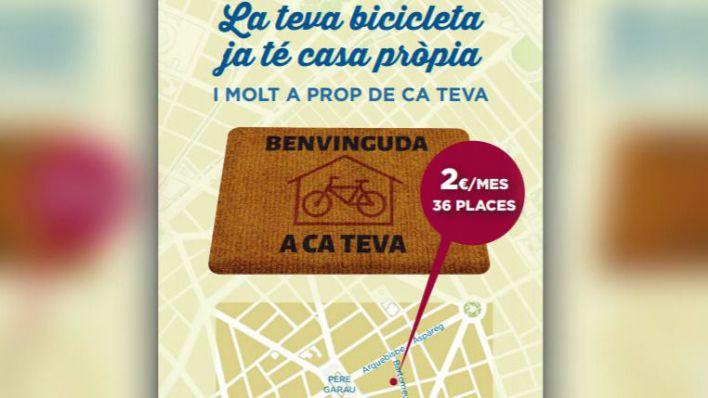 Ya se puede solicitar plaza en el parking de bicis de Pere Garau
