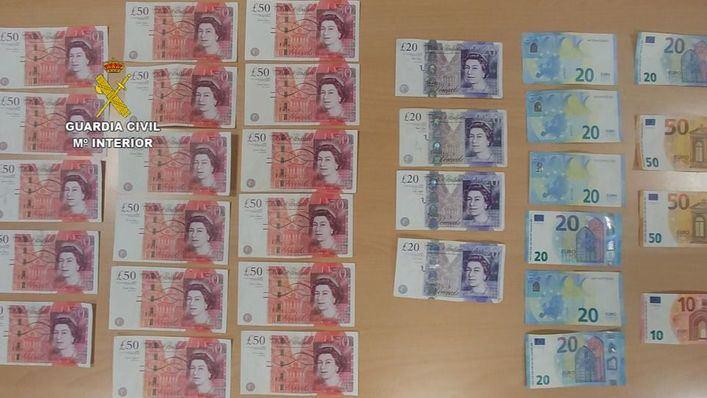 Detenidos cinco miembros de una misma familia por falsificación de moneda