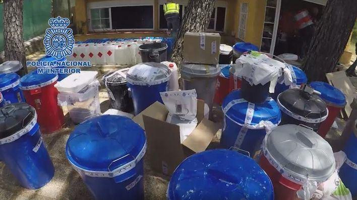 Cae una red de laboratorios clandestinos de cocaína