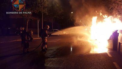 Arde un contenedor en el barrio palmesano de Son Fortesa Nord