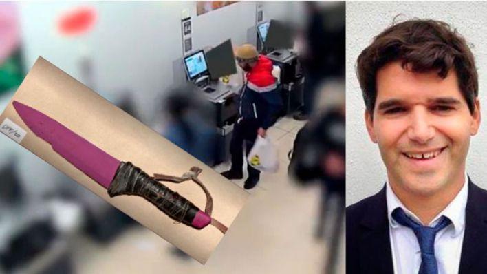 Comprando cuchillos en un 'super': primeras imágenes de los terroristas que asesinaron a Ignacio Echevarría
