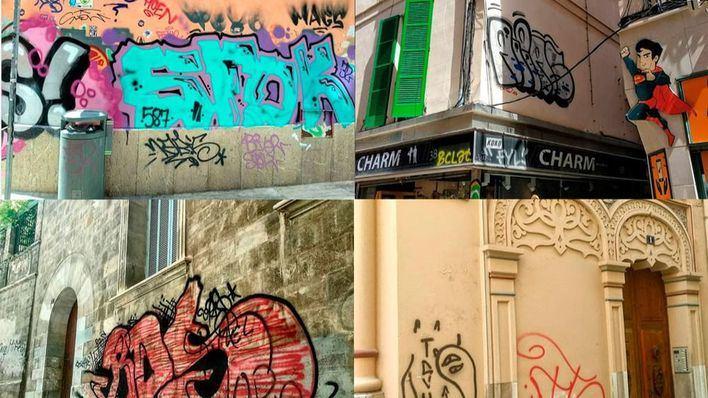Pintadas en Palma: la lacra que amenaza la esencia de la capital