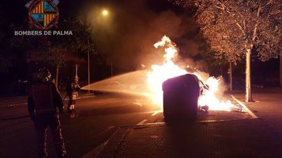 Arde otro contenedor en Palma