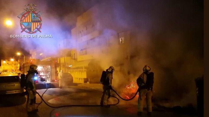 Detenido el presunto autor de la quema de contenedores en Palma