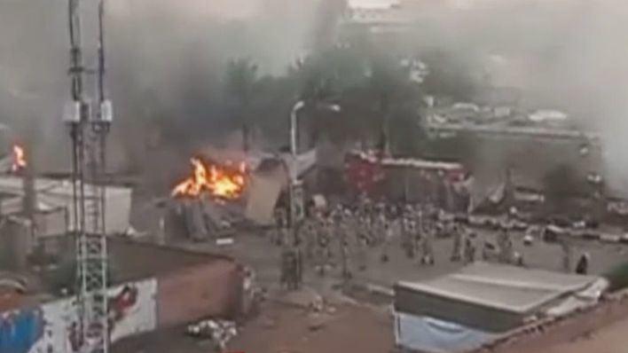 Matanza en Sudán durante el desalojo de opositores