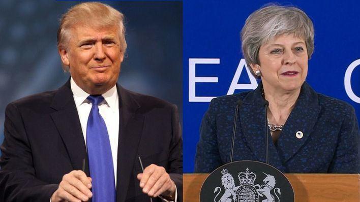 Trump y May barajan un acuerdo de libre comercio tras el Brexit