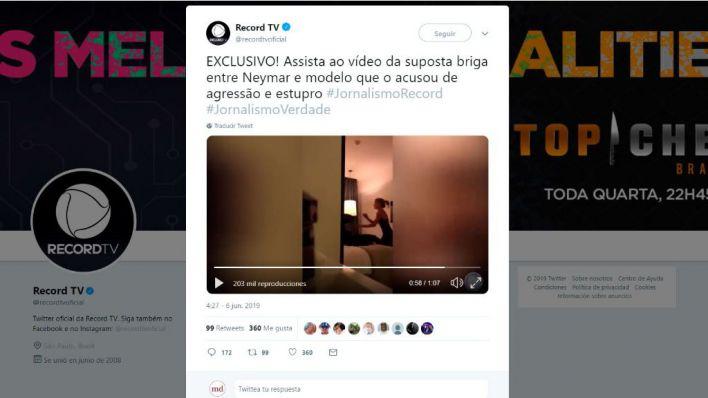 Primeras imágenes del vídeo de Neymar con la mujer que le acusa de violación