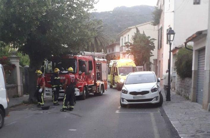 Dos heridos en un accidente de tráfico en Sóller
