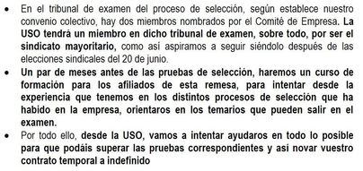 USO utiliza los exámenes de la EMT en su campaña para captar afiliados
