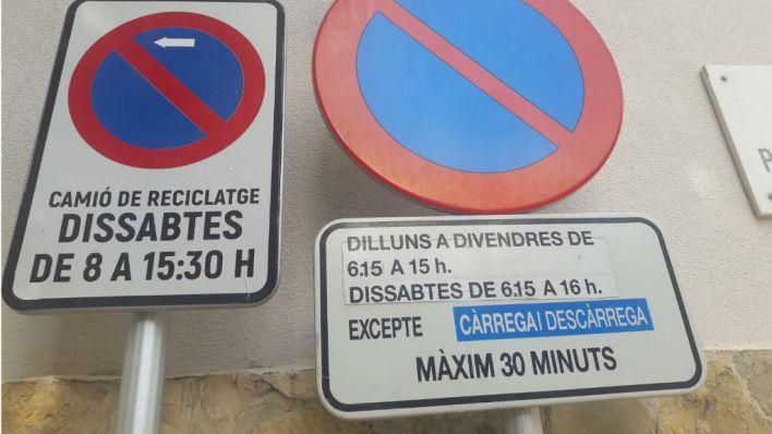 El Defensor del Pueblo recuerda a Cort que debe rotular en castellano las indicaciones de tráfico