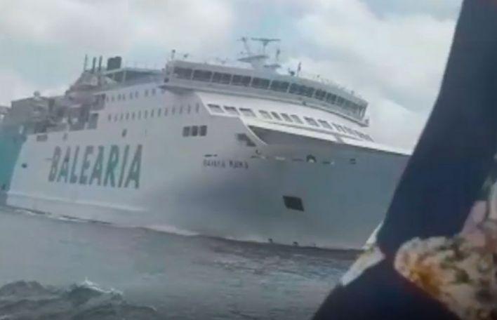 Despedido el capitán del Kontiki II tras el incidente con el buque de Baleária en Formentera