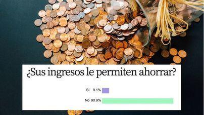 Un 90,9 por cien de lectores reconoce que sus ingresos no les permite ahorrar
